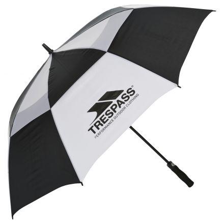 Printed Golf Umbrella in Black