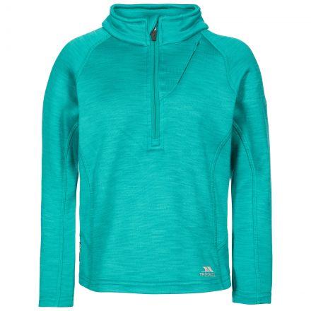 Celina Kids' Half Zip Fleece in Green