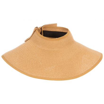 Trespass Womens Straw Hat for Summer Visor Cinammon Natural