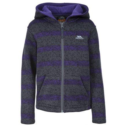 Conar Kids' Full Zip Fleece Hoodie in Purple
