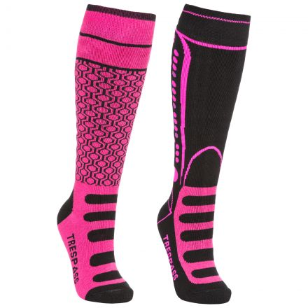Concave Kids' Ski Socks - 2 Pack in Pink