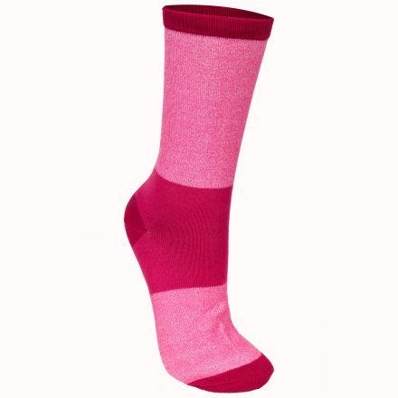Cool Women's Walking Socks in Pink