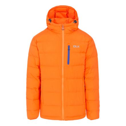 Crane Men's DLX Hooded Down Jacket in Yellow