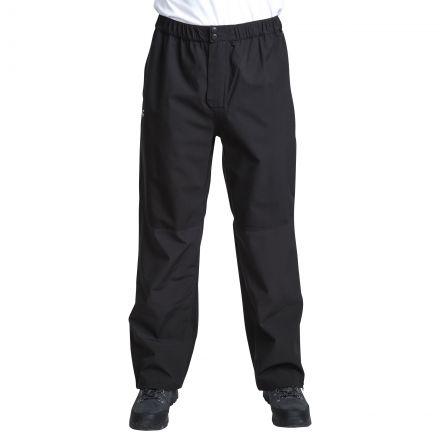 Crestone Men's DLX Packaway Waterproof Trousers in Black