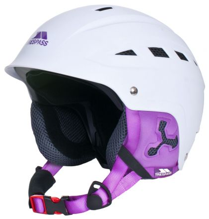 Davenport White Ski Helmet