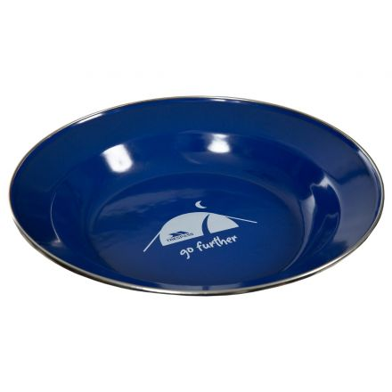 Enamel Camping Plate in Blue