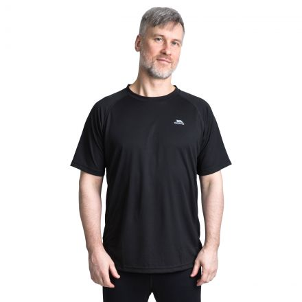 Debase Men's Quick Dry Active T-shirt in Black