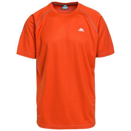 Debase Men's Quick Dry Active T-shirt in Orange