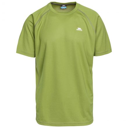 Debase Men's Quick Dry Active T-shirt in Green