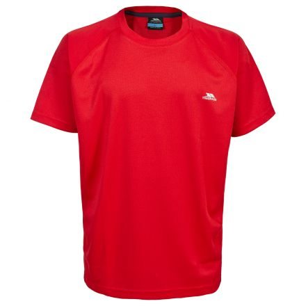 Debase Men's Quick Dry Active T-shirt in Red
