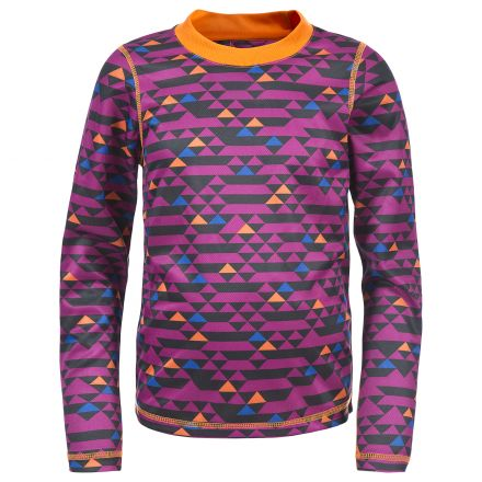 Doozie Kids Long Sleeve Base Layer Top  in Pink