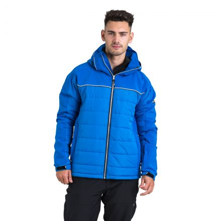 Drafted Men's Windproof Padded Ski Jacket in Blue