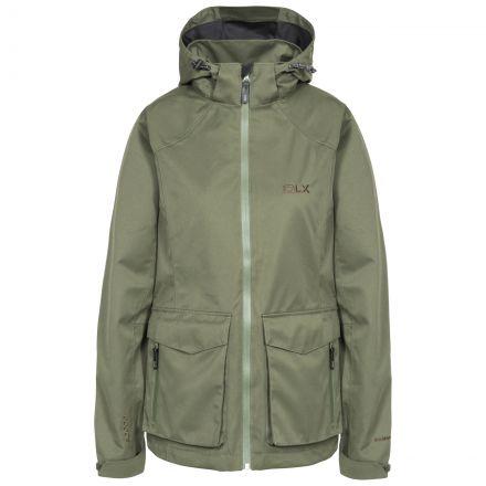 DLX Womens Waterproof Jacket with Hood Emeson in Khaki