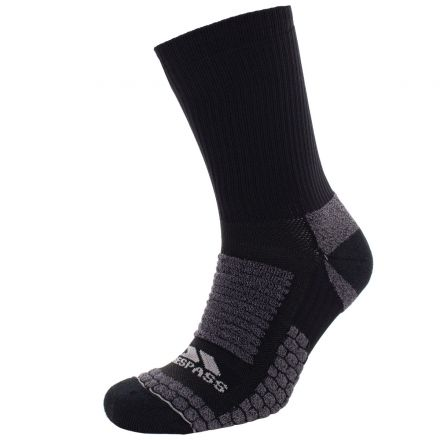 Empireo Unisex Light Compression Terry Sock in Black