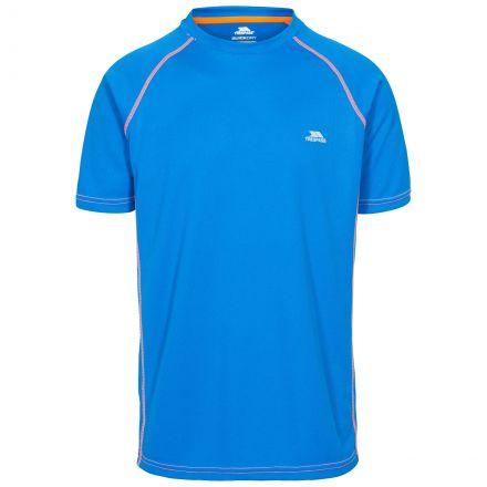 Ethen Men's Short Raglan Sleeve Active T-Shirt in Blue