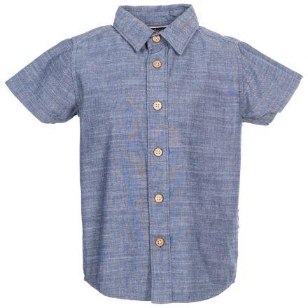 Exempt Kids' Short Sleeve Shirt in Navy
