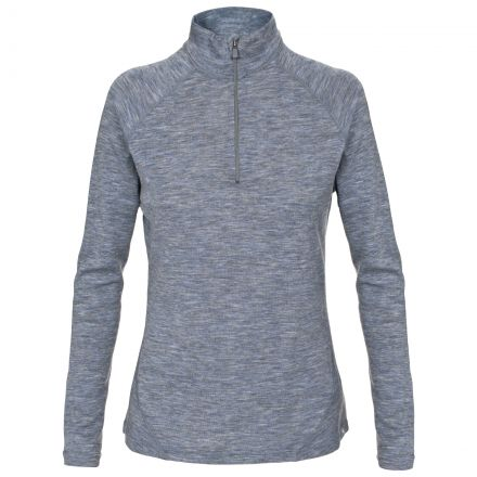 Stalk Womens Merino Wool Base Layer Top in Grey