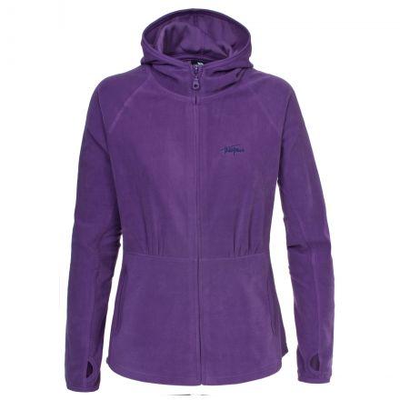 Marathon Womens Anti Pilling Microfleece Hoodie in Purple