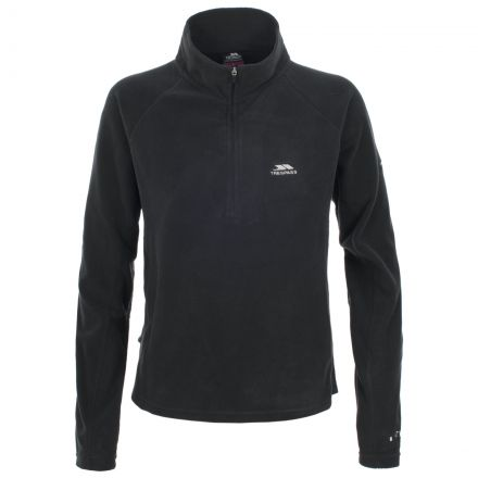 Shiner Women's Half Zip Microfleece in Black