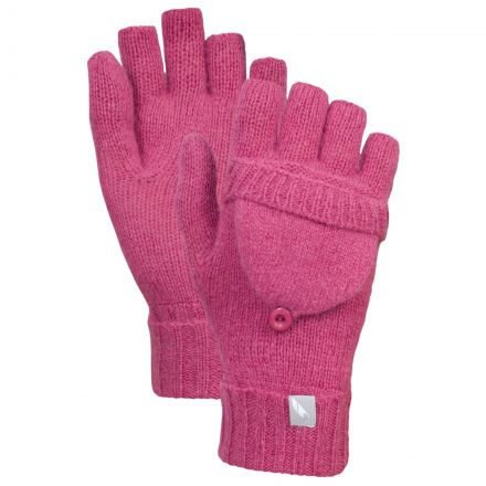 Tussock Unisex Knitted Mittens in Pink