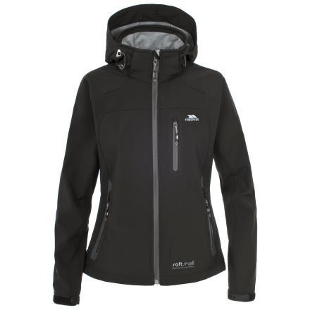 Trespass Womens Softshell Jacket Windproof Bela Black