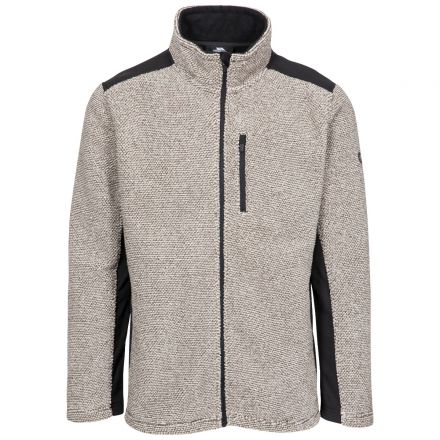 Faratino Men's Knitted Striped Fleece Jacket