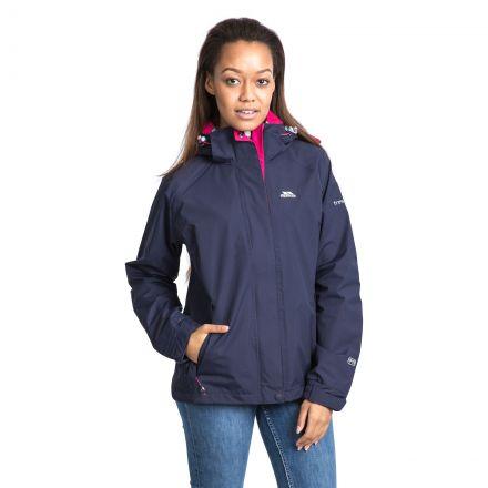 Trespass Womens Waterproof Jacket with Hood Florissant Ink