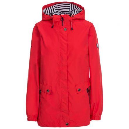 Trespass Womens Waterproof Jacket with Hood Flourish Red