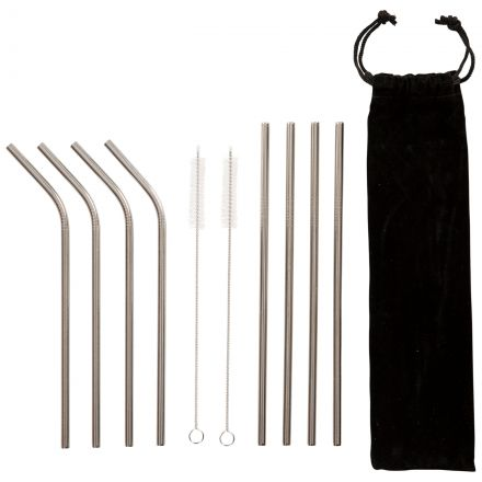 Foreverstraw Stainless Steel Straws - 8 Pack in Assorted