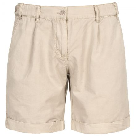 FORTUNATE Women's Travel Shorts in Beige