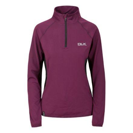Frey Women's DLX 1/2 Zip Long Sleeve Active Top in Burgundy
