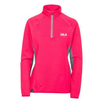 Frey Women's DLX 1/2 Zip Long Sleeve Active Top in Pink