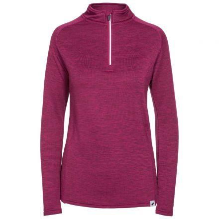 Trespass Womens Long Sleeve Top 1/4 Zip Knitted Freya