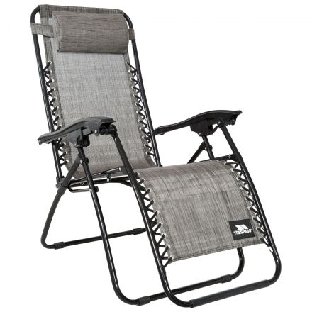 Glenesk Reclining Sun Lounger Chair in Light Grey
