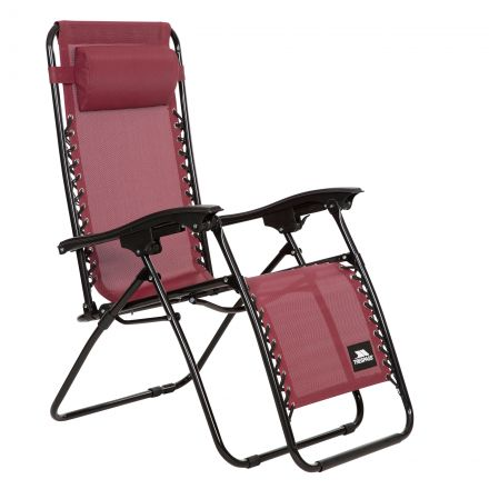 Glenesk Reclining Sun Lounger Chair in Burgundy