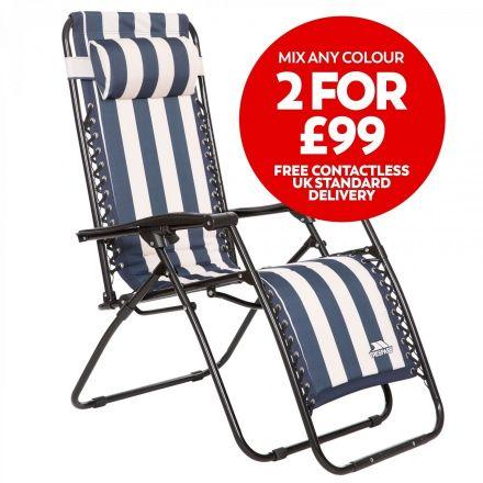 Glentilt Padded Reclining Sun Lounger Chair