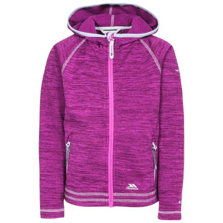 Trespass Kids Fleece Jacket with Hood Full Zip Goodness Purple