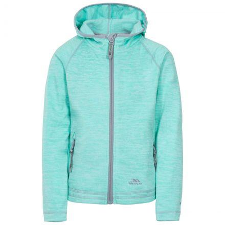 Trespass Kids Fleece Jacket with Hood Full Zip Goodness Green