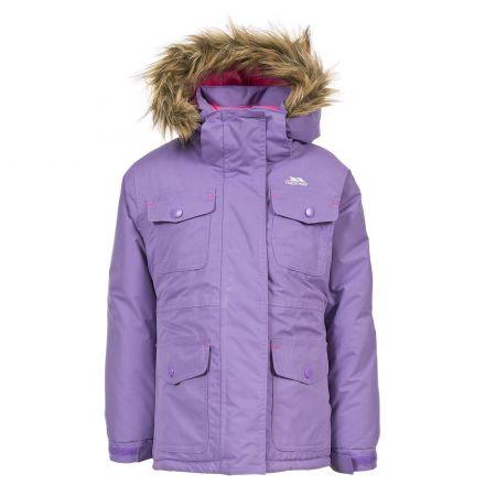Greer Girls' Waterproof Parka Jacket in Light Purple