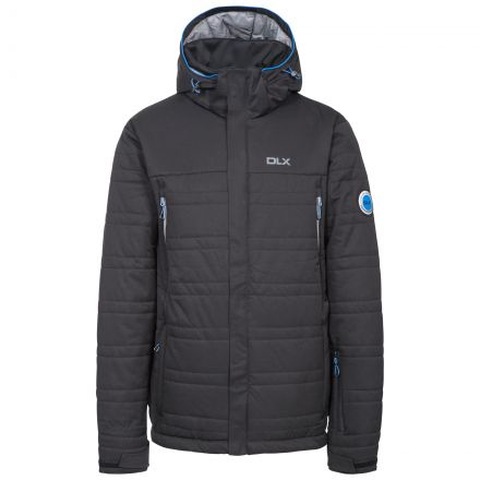 Hayes Men's DLX Waterproof Ski Jacket in Black, Front view on mannequin