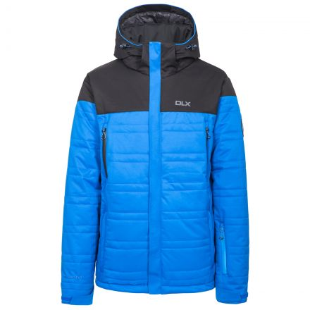 Hayes Men's DLX Waterproof Ski Jacket in Blue, Front view on mannequin