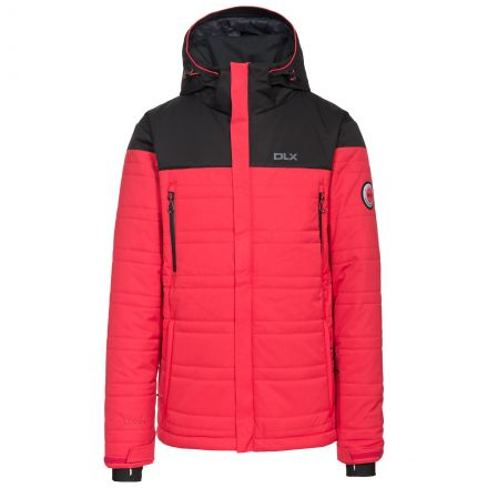 Hayes Men's DLX Waterproof Ski Jacket in Red, Front view on mannequin