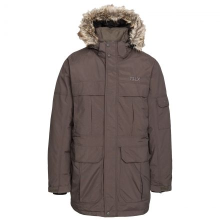 Highland Men's DLX Waterproof Down Parka Jacket in Khaki