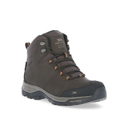 Hiram Men's Waterproof Walking Boots in Brown
