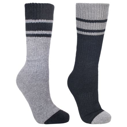 Hitched Men's Walking Socks - 2 pack in Black