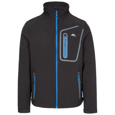 Hotham Men's Lightweight Softshell Jacket in Black