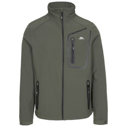 Hotham Men's Lightweight Softshell Jacket in Khaki