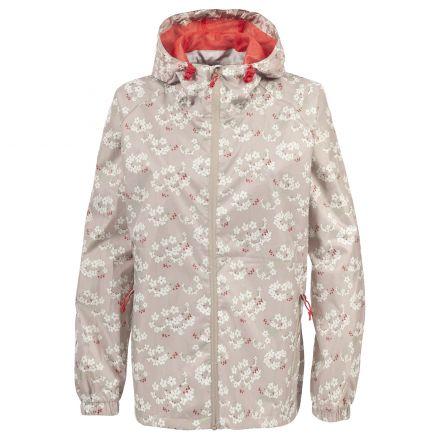 Trespass Womens Waterpoof Packaway Jacket Indulge in Mushroom Print