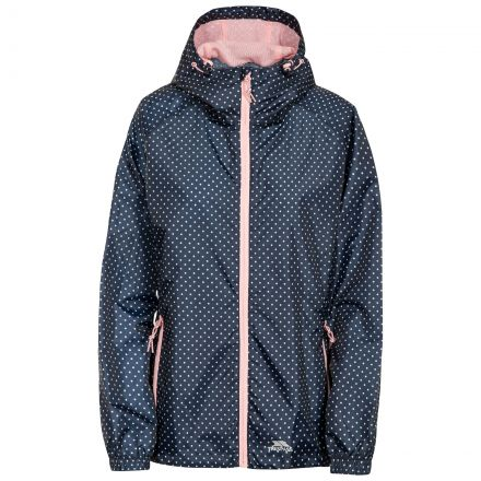 Trespass Womens Waterpoof Packaway Jacket Indulge in Navy