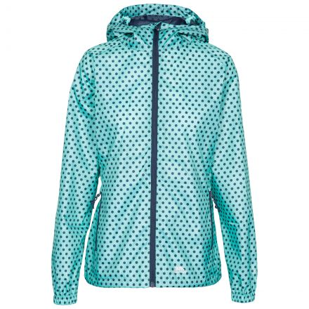 Trespass Womens Waterpoof Packaway Jacket Indulge in Light Blue